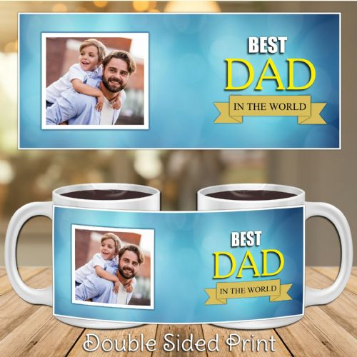 Personalised Best Dad Happy Fathers Day PHOTO Gift Mug N31
